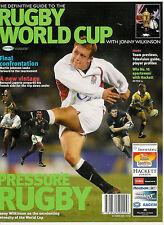 2003-la guía definitiva para la Copa Mundial de rugby con Jonny Wilkinson