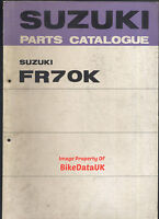 Suzuki FR70 (1973 >>) Genuine Parts List Catalogue Book Manual FR 70 K BW61