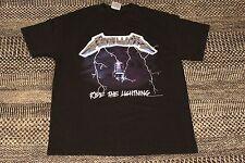 Vintage 1994 Metallica Ride the Lightning T-shirt Size L Large VTG 90s Black Tee