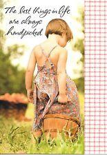 Girl With Basket Handpicked Friend Friends Friendship Greeting Card By Hallmark
