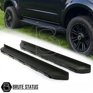 All Black Ford Ranger 2012-2021 Aluminium Running Boards Side Steps T6 T7 T8