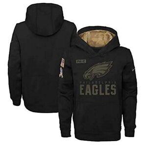 Philadelphia Eagles Nike Youth Boys 2020 Salute to Service Hoody Sweatshirt