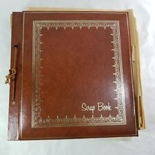 Vintage Scrapbook 1950s - 1980s - 32 Pages - Letters Cards Postcards Clippings