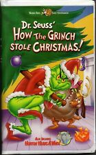 VHS Dr Seuss How the Grinch Stole Christmas & Horton Hears a Who! Warner Bros