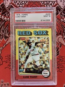 1975 Topps Luis Tiant #430 - PSA 9 MINT - Boston Red Sox, Yankees, Indians