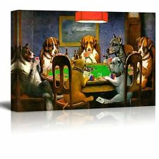 """Pokers Dogs (or Dogs Playing Cards) by C. M. Coolidge - Canvas Print- 16"""" x 24"""""""