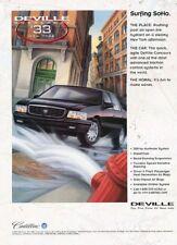 1997 1998 Cadillac Deville -  Original Advertisement Print Art Car Ad J885
