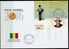 MALI NOBEL PRIZE WINNERS LITERATURE 2016 BOB DYLAN  S/S  FIRST DAY COVER