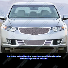 Custom Fits 2009-2010 Acura TSX Stainless Steel Mesh Grill Combo