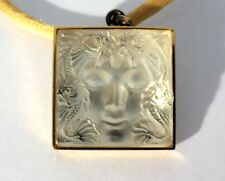 LALIQUE Masque de Femme Crystal Pendant in Box  Free Shipping