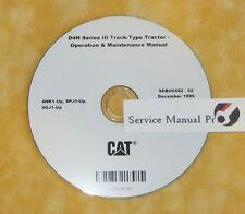SEBU6482 CAT D4H 3 Track Type Tractor Dozer Operation Maintenance Manual CD