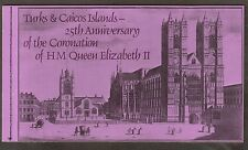 Turks & Caicos 25th Anniversary Of The Coronation. Booklet.   #02 TURKSCORO