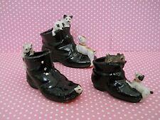 Vintage Japan Dog & Kitten Cat Shoe Figurines Lot Of 3