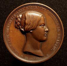 Belgique, grande médaille bronze 1853, V. Dubois, Marie-Henriette V. L'AUTRICHE, R!