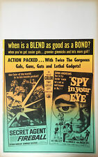 SECRET AGENT FIREBALL / SPY IN YOUR EYE Combo Benton window card