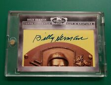 2006 Topps Sterling Billy Herman Cut Signatures HoF Auto #76 - bks $60