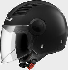 CASCO JET LS2 OF562 AIRFLOW L NERO OPACO TG.XXL