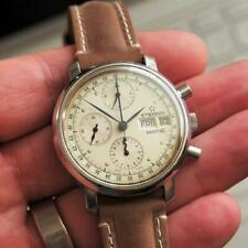 c1990 ETERNA-MATIC 38mm Day-Date Chronograph Lemania 5100 Automatic Gents Watch