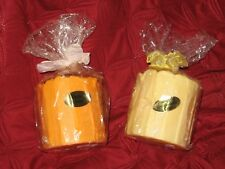 "PILLAR CANDLES-BRAND NEW IN THE PACKAGE! DELICIOUSLY SCENTED ""CAKE"" THEME!"