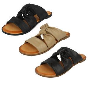 Femmes Leather Collection à Enfiler Décontracté Sandales Mules Été F0R0197