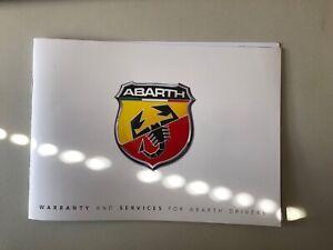 NEW GENUINE Abarth Service Book 124 Spider 60395958
