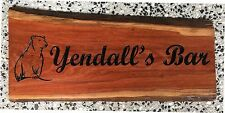 Personalised Bundy Bar Ironbark Slab Timber Sign 650mm Long