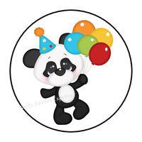 Vtg Sticca Glitter Neon Colors Panda Heart Sticker Lot