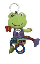 LAMAZE FROG LILY PAD BABY CLIP ON LINK RING DEVELOPMENTAL TOY