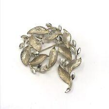 Vintage Brooch Lisner Leaf Pin Costume Jewelry Retro
