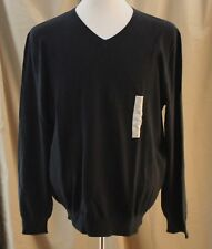 Article 365, Large, Black Long Sleeve V-neck Sweater, New with Tags