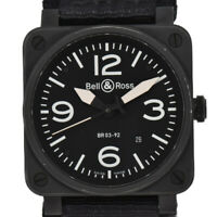 Auth BELL&ROSS BR03-92 Black Dial SS/Nylon Band Automatic Men's Watch T#94261