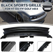 Badgeless Debadged Mesh Sport Front Grill Black Emblem FOR VW Golf MK4
