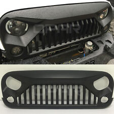 Upgrade Angry Bird Front Matte Grill Grille For Jeep Wrangler 07-17 JK Unlimited