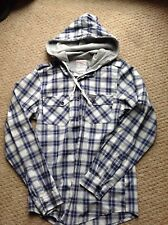 cedarwood state check shirt blue grey white X-small XS