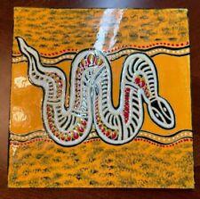 New listing Nice Hand Made and Hand Painted Big Snake Tile