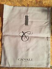 "Canali 12"" x 14"" Designer Logo Shoe Handbag Storage Sleeper Dust Bag"