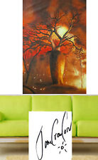 "Tree Art Painting original bush fire 63"" Australia Boab landscape Jane Crawford"