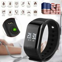 Sport Blood Pressure Oxygen Heart Rate Fitness Smart Watch Wrist Band Bracelet