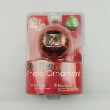 Vu-Me Digital Photo Ornament Display 70 Photos Gold Christmas Tree Ornament