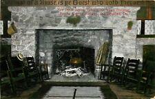 DB Postcard CA D590 Fire Place Alpine Tavern mt Lowe Pacific Electric Railway
