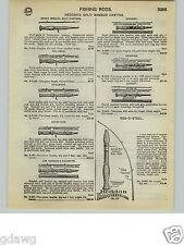 1932 PAPER AD Heddon's Split Bamboo Fly Fishing Rod Jim Favorite Expert Premier