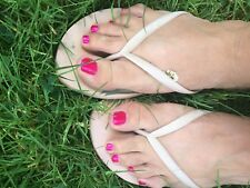 Very Worn Size 10 Pink Flip-Flops By American Eagle-