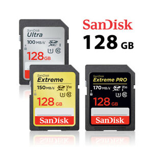 SanDisk Ultra /Extreme /Extreme PRO 128GB UHS-I SD Memory Card 100MB/150MB/170MB