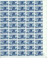 US SCOTT C53 SHEET OF 50 ALASKA STATEHOOD STAMPS 7 CENT FACE MNH