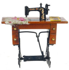 Dollhouse Miniature - Sewing Machine With Cloth - 1/12 Scale