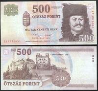 Hongrie 500 Forint. NEUF 2013 Billet de banque Cat# P.196e