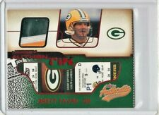2002 Fleer Authentix Jersey Authentix Ripped #JABF Brett Favre 3 Color