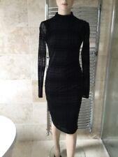 ASOS black dress Plunging bare back Size 8