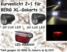 Kurvenlicht LED 2xFront 1xRücklicht PitchBlack DESIGN für Berg Gokart XL