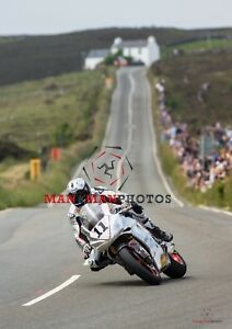 Josh Brookes  Norton  2018 Isle of Man  Senior TT A4 size photo